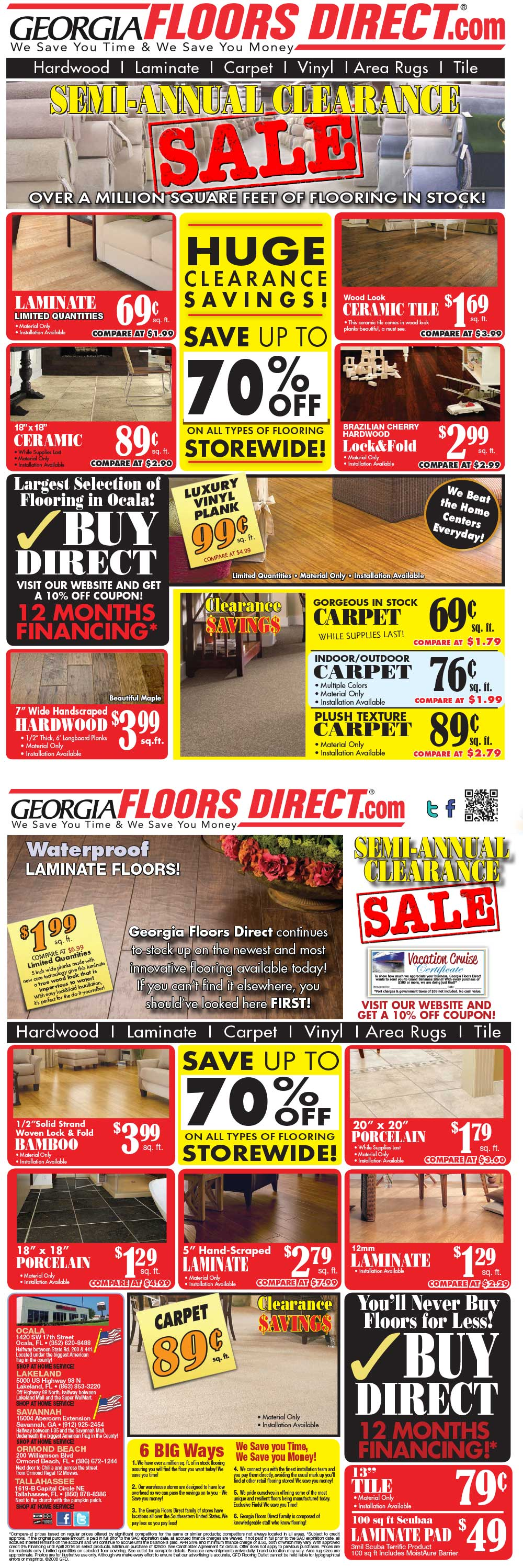 Ocala Flooring Store (352) 620-8488 The Largest Selection of Flooring ...