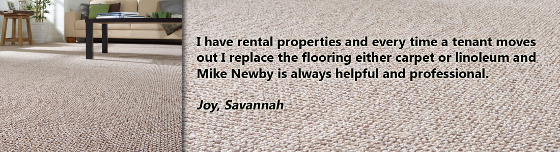 carpet and linoleum testimonial