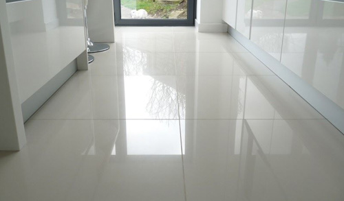 glass tile flooring